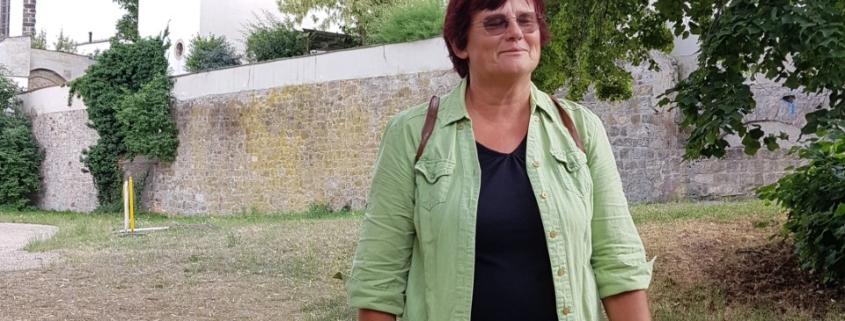 Barbara Scheller in Torgau.